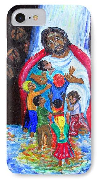Jesus Loves The Children IPhone Case