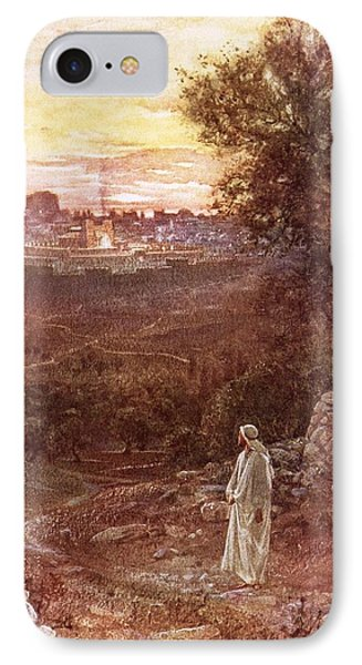 Jesus On The Mount Of Olives Phone Case by William Brassey Hole