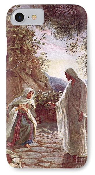 Jesus Revealing Himself To Mary Magdalene Phone Case by William Brassey Hole