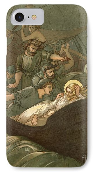Jesus Sleeping During The Storm IPhone Case by John Lawson