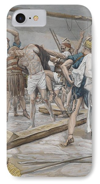 Jesus Stripped Of His Clothing Phone Case by Tissot