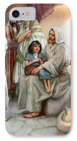 Jesus Teaching The People Phone Case by Arthur A Dixon