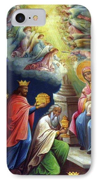 Jesus The King Phone Case by Munir Alawi