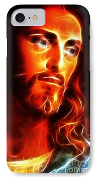 Jesus Thinking About You Phone Case by Pamela Johnson
