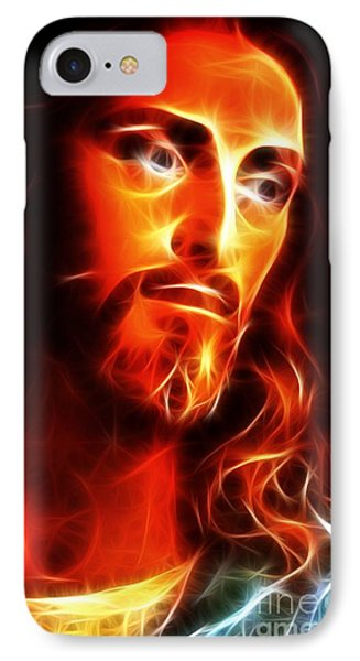 Jesus Thinking About You IPhone Case by Pamela Johnson