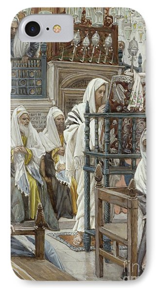 Jesus Unrolls The Book In The Synagogue IPhone Case by Tissot