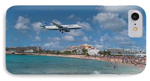 jetBlue at St. Maarten IPhone Case by David Gleeson