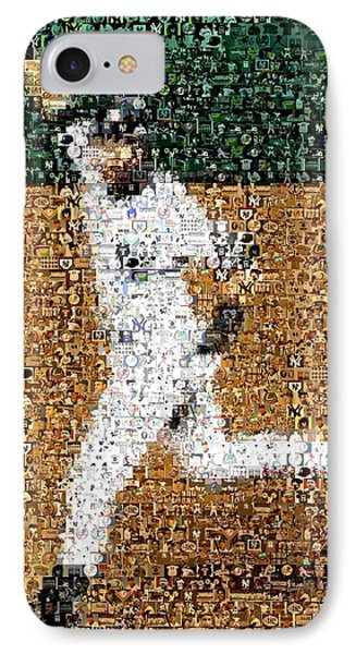 Jeter Walk-off Mosaic Phone Case by Paul Van Scott