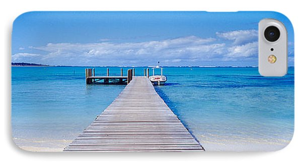 Jetty On The Beach, Mauritius IPhone Case by Panoramic Images