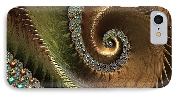 Jewel And Spiral Abstract IPhone Case by Marianna Mills