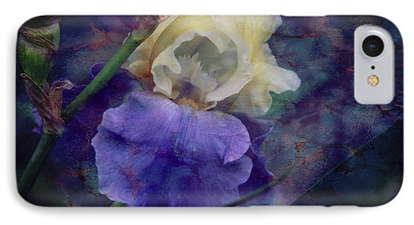 IPhone Case featuring the photograph Jeweled Iris by Toni Hopper