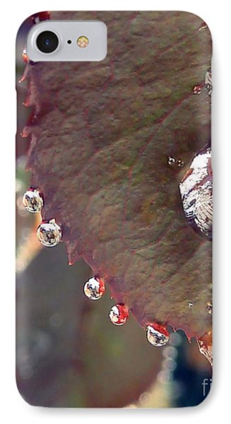 Jeweled Leaves IPhone Case by Patricia Strand