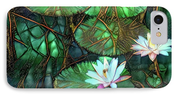 Jeweled Water Lilies IPhone Case by Amy Cicconi