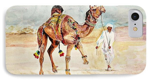 Jewellery And Trappings On Camel. IPhone Case by Khalid Saeed