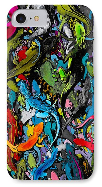 Salamanders iPhone 7 Case - Jewels Of The Demon City Swarm by Zak Smith