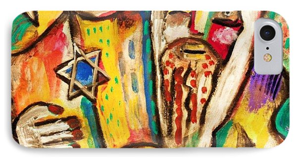Jewish Celebrations Rejoicing In The Torah IPhone Case