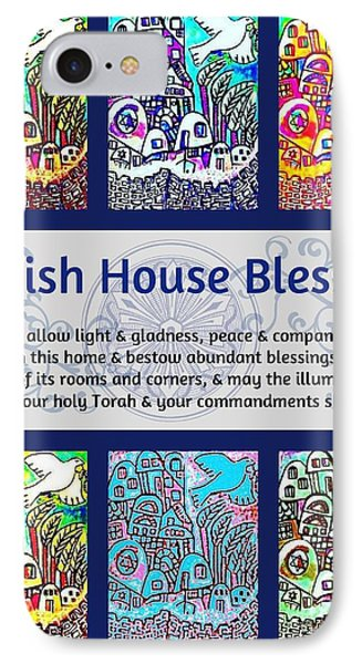 Jewish House Blessing City Of Jerusalem IPhone Case