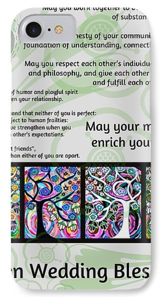 Jewish Seven Wedding Blessings Tree Of Life Hamsas IPhone Case