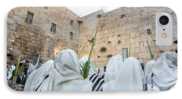 Jewish Sunrise Prayers At The Western Wall, Israel 10 IPhone Case