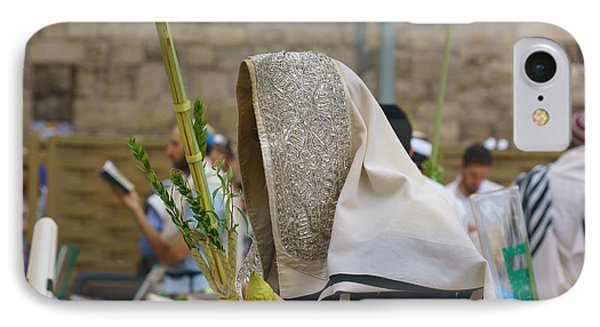Jewish Sunrise Prayers At The Western Wall, Israel 7 IPhone Case