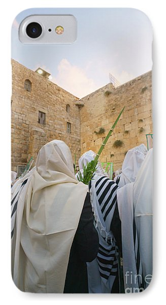 Jewish Sunrise Prayers At The Western Wall, Israel 9 IPhone Case