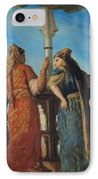 Jewish Women At The Balcony In Algiers IPhone Case by Theodore Chasseriau