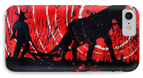 IPhone Case featuring the relief Jezebel And Me by Seth Weaver