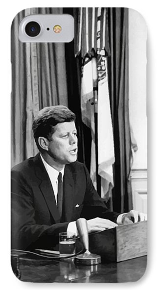 Jfk Addresses The Nation  Phone Case by War Is Hell Store
