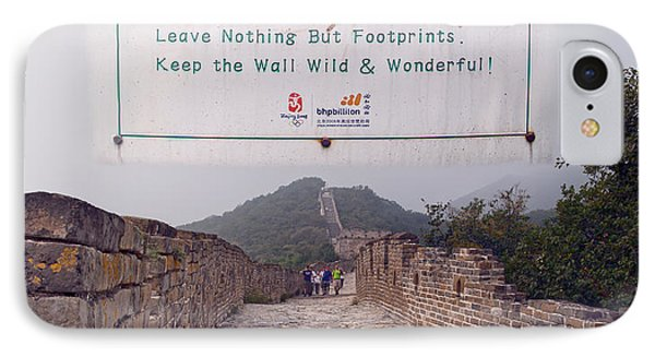 Jiankou To Mutianyu Leave Nothing IPhone Case by Betsy Knapp