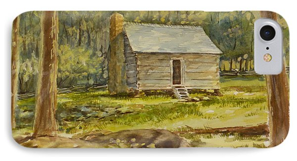 Jim Bales' Cabin IPhone Case by Carl Whitten