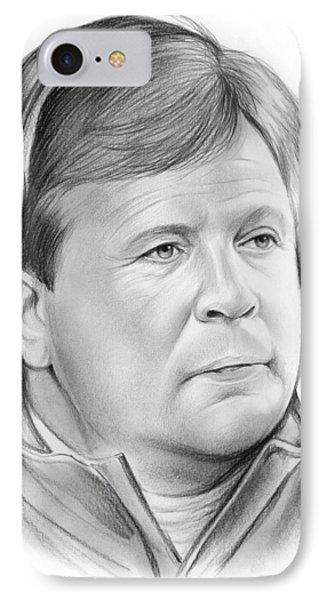 Jim Mcelwain IPhone Case by Greg Joens