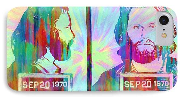 Jim Morrison Tie Dye Mug Shot IPhone Case