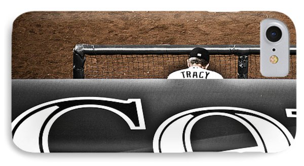 Jim Tracy Rockies Manager Phone Case by Marilyn Hunt