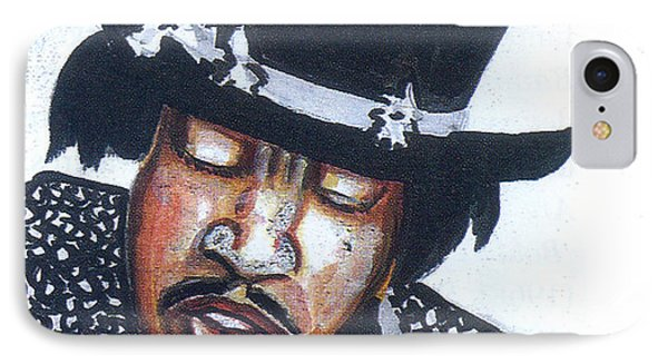 IPhone Case featuring the painting Jimi Hendrix by Emmanuel Baliyanga