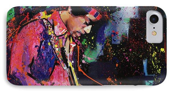Jimi Hendrix II IPhone Case by Richard Day