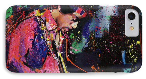 Jimi Hendrix II IPhone Case by Richard Day