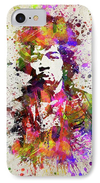 Jimi Hendrix In Color IPhone Case