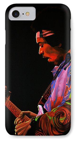 Jimi Hendrix 4 IPhone Case by Paul Meijering