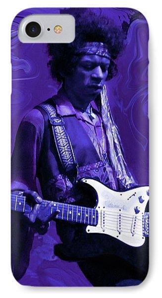 Guitar iPhone 7 Case - Jimi Hendrix Purple Haze by David Dehner