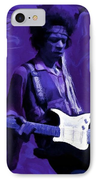 IPhone Case featuring the painting Jimi Hendrix Purple Haze P D P by David Dehner