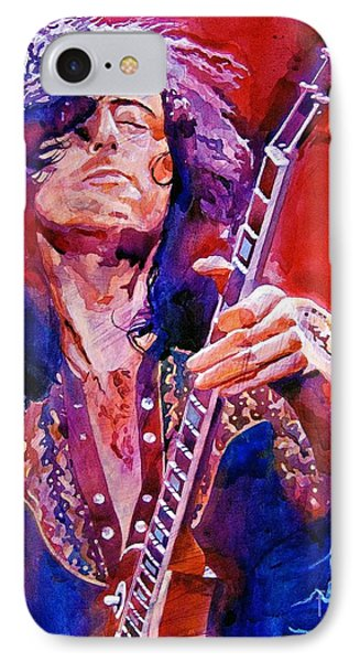 Musicians iPhone 7 Case - Jimmy Page by David Lloyd Glover