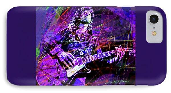 Jimmy Page Solos IPhone Case by David Lloyd Glover