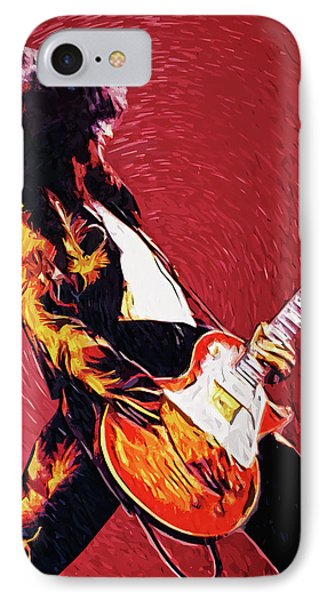 Jimmy Page  IPhone Case by Taylan Apukovska