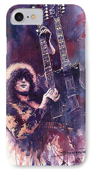 Jimmy Page  IPhone 7 Case by Yuriy  Shevchuk