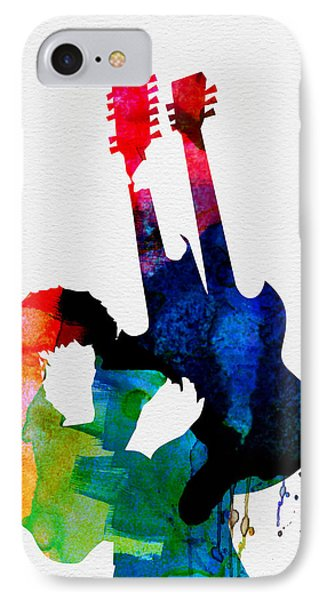 Jimmy Page iPhone 7 Case - Jimmy Watercolor by Naxart Studio
