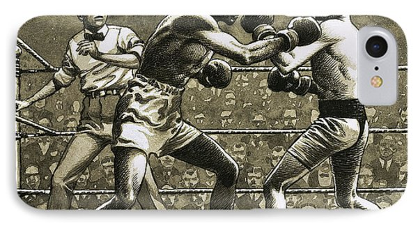 Jimmy Wilde Boxing Pancho Villa In New York IPhone Case by Pat Nicolle