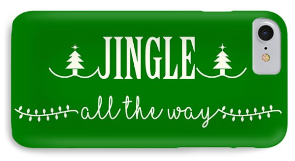 IPhone Case featuring the digital art Jingle All The Way by Heidi Hermes