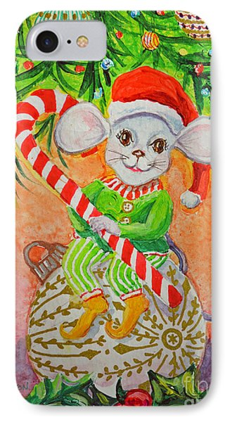 Jingle Mouse IPhone Case by Li Newton
