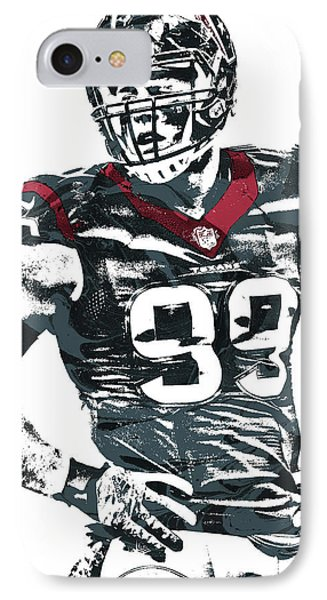 Jj Watt Houston Texans Pixel Art 5 IPhone Case by Joe Hamilton