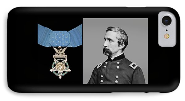 J.l. Chamberlain And The Medal Of Honor IPhone Case by War Is Hell Store